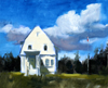 White Cottage - A Fine Art Painting by Wilson J. Ong